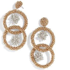 Baublebar Miyana Beaded Hoop Drop Earrings